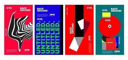 Vektor bunte Collage Layout-Design für Magazin-Cover