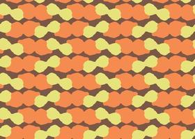 handgezeichnetes, braunes, orange, gelbes Farbklecks nahtloses Muster vektor