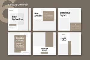 minimal mode sociala inlägg. lämplig för media för marknadsföring av företag. det här paketet är perfekt för designers, bloggare, skapare och entreprenördesigners, bloggare, skapare, entreprenörer, marknadsföring vektor