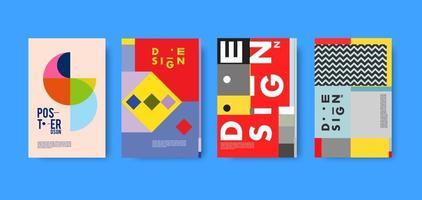 Vektor buntes geometrisches abstraktes und Textcollageplakat