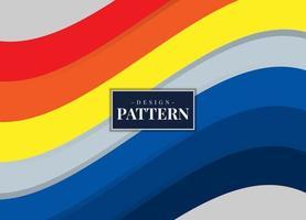 bunter moderner geometrischer gebogener Streifendesignhintergrund vektor
