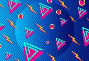 Retro geometrischer Hintergrund mit Blitz vektor