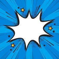 Pop-Art-Comic-Hintergrund mit Blasensprache vektor
