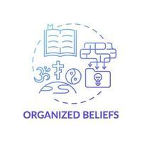 organiserad övertygelse blå lutning koncept ikon vektor
