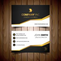 Gold Steped Corporate Visitkort vektor