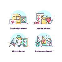 Kundenregistrierung Creative UI Concept Icon Set vektor