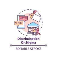 diskriminering eller stigma koncept ikon vektor