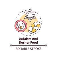 Ikone des Judentums und des koscheren Lebensmittelkonzepts vektor