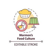 mormonische Esskultur-Konzeptikone vektor