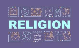 religion ord begrepp banner vektor