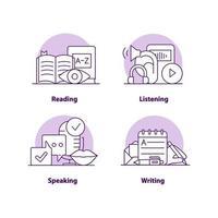 utbildning kreativa ui konceptet ikonuppsättning