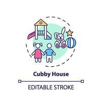 cubby house koncept ikon vektor