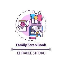 familj skrot bok koncept ikon vektor