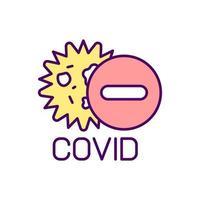 Schutz vor Infektionskrankheiten RGB-Farbsymbol vektor
