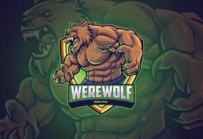 varulv esports logo design för ditt lag vektor