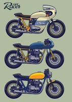 Cafe Racer Bike Set vektor
