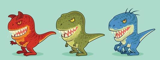 söta dinosaurier karaktär vektor