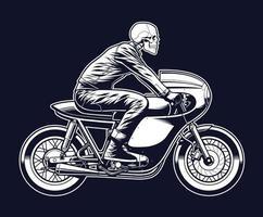 Skelett Motorrad fahren vektor