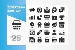 Werbe-Icon-Pack für Ihr Website-Design, Logo, App, UI vektor