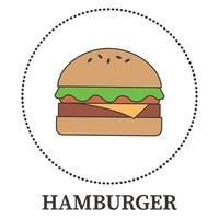 abstrakt stor hamburgare på vit bakgrund - vektor