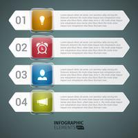 Horizontale Treppe Anzahl Infografik
