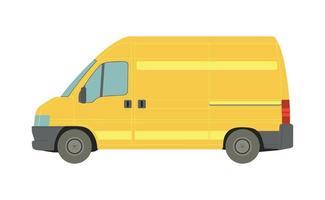 stor gul skåpbil på en vit bakgrund - vektor
