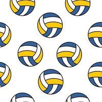 nahtloses Volleyballmuster vektor