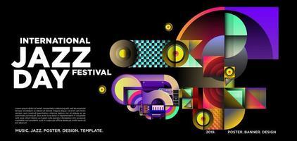 vektor färgglada internationella jazz dag banner design