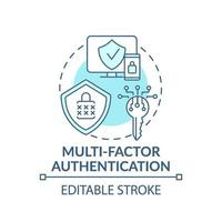 multi-faktor autentisering koncept ikon vektor
