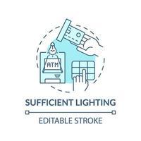 ausreichend Lichtkonzept Symbol vektor