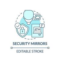 säkerhet speglar koncept-ikonen vektor