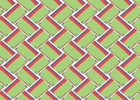 Hand gezeichnet, grün, blau, rot, weiß Zick-Zack nahtloses Muster vektor