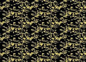 handritad, svart, gult grunge sömlöst mönster vektor