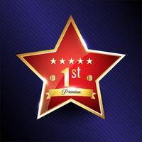 Star Bestes Produkt-Abzeichen vektor