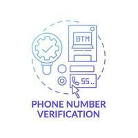 telefonnummer verifiering koncept ikon vektor