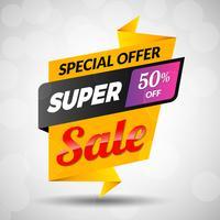 Super Sale Rabatt Banner vektor