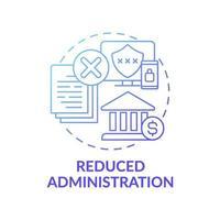 Symbol für reduziertes Administrationskonzept vektor