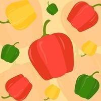 Paprika-Mustervektor vektor