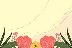 Blumenhintergrundvektor vektor