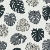 Monstera Deliciosa Blatt nahtloses Muster. Perfekt für Textilien, Stoffe, Hintergründe, Drucke