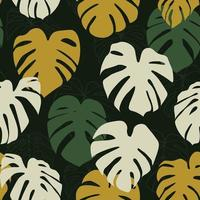 monstera deliciosa blad sömlösa mönster. perfekt för textil, tyg, bakgrund, tryck