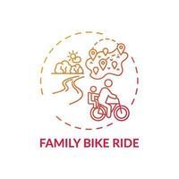 familj cykeltur koncept ikon vektor