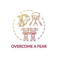 övervinna en rädsla koncept ikon vektor
