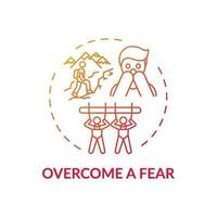 ein Angstkonzept-Symbol überwinden vektor