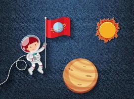 söt element på rymdtema