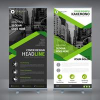 Elegantes grünes Business-Rollup vektor