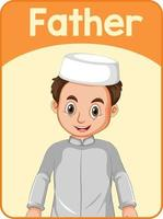 pedagogiskt engelska ordkort av far