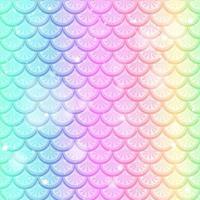 Pastell Regenbogen Fischschuppen nahtloses Muster vektor