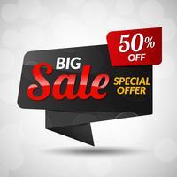 Big Sale Aufkleber vektor