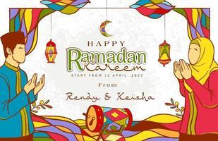 handritad ramadan kareem illustration